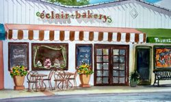 Éclair Bakery with the Current Awning and Sign