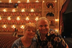 Lynda and Randy at Opera House, Buenos Aries