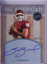 2010 PRESS PASS SAM BRADFORD ROOKIE/RC/AUTO #8/25 *SP - SHORT PRINT* Click to view larger image Sell one like this   2010 PRESS PASS SAM BRADFORD ROOKIE/RC/AUTO #8/25  ALL AMERICAN