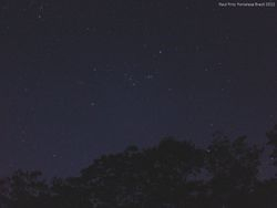The constellation of Orion with its famous three belt stars