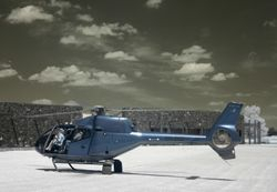 Helicopter in Infra Red