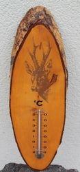 Medinis vintazinis termometras. Kaina 26