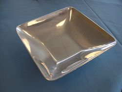 Square Pewter Serving Dish