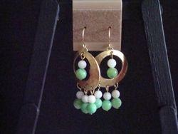 Green & White Dangles (Item #3016)  $12.00