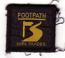1990s Footpath Badge