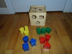 Melissa & Doug Wooden Shape Sorting Cube - $12