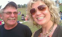 Larry Bahm and Piper, Woodstock Revisited, PrairieFest, ArkCity KS, 2010
