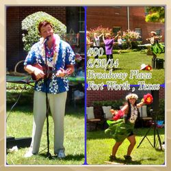 Ukulele singer and hula dancer