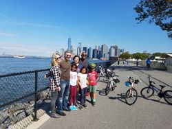 Governors Island with Manhattan in the back