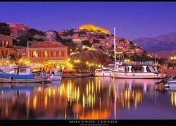 Molyvos, Lesvos island , Aegean sea