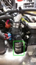 View of installed shut off valve. NOTE FOR USE WITH MCX VIPER'S WITH THE STOCK SEPARATOR TANK DRAIN