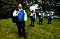 James Brown and groomsmen