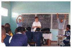 Teaching ISCF (Interschool Christian Fellowhip) Chingola Zambia