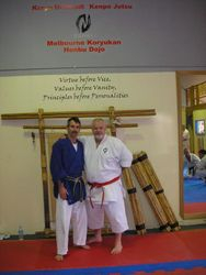 Hanshi McCarthy and Sensei Bob