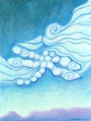 Dragonfly Visionary Gatekeeper, Oil Pastel, 11x14