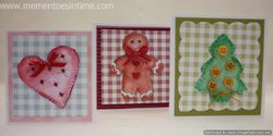 Heart, Gingerbread Man and Tree Gift Cards