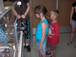 Ethan and Kiara at the money machine