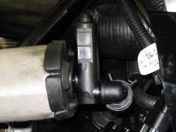 Installed shut off valve