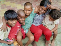 8 10-year old Shivani and her cousins. They beg as a team
