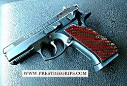 CZ 75 / 85 COMPACT smooth red CF mounted
