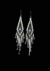Beaded Stacked (3drop) Seed Bead/Bugle Earrings