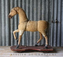 SOLD #24/109 FRENCH HORSE WOOD/BURLAP SOLD