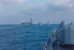 Med USS Forestal, USS Marias, USS Barry