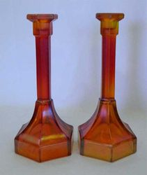 "Chesterfield 9"" candlesticks - red"