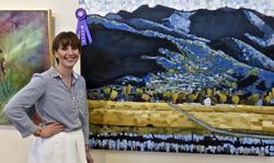 Victoria Denning with her Best of Show Painting