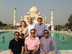 Chilling out at the Taj Mahal
