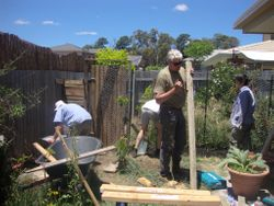 Completing the chicken house
