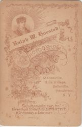 Ralph M. Huested, photographer, of Mannsville & Bellville, NY - back
