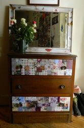 Mirror and chest of drawers
