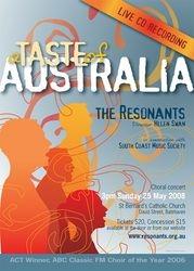 A taste of Australia ? live CD recording
