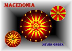 Macedonia Never Greek - Flag Artwork