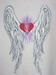 Heart Wings on White