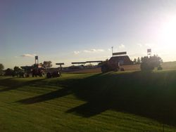 Sunset with the Tractors!