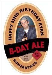 Birthday Logo for Bottle