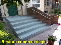 Concrete repair & refinish
