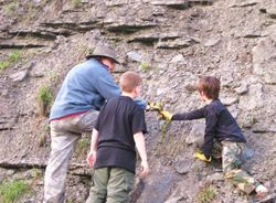 Collecting fossils in Kentucky.