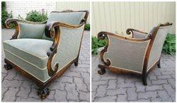 Chippendales stiliaus antikvarinis fotelis. Kaina 267