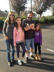 Stella & her new family in N. California