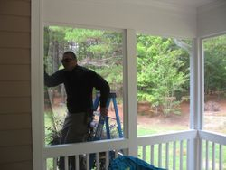 Holly Springs Screened Porch Installation.