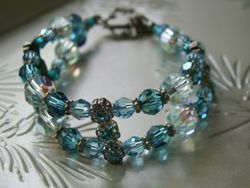 Aqua Swarovski Bracelet