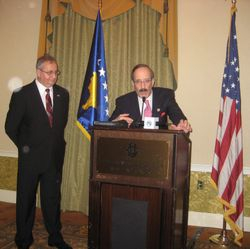 Congressman Eliot Engel  with Ambassador Avni Spahiu