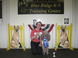Amber winning first place in CDSP Open and earning her first CDX-C leg.  6/18/11.