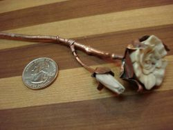 Deer Antler & Copper Rose