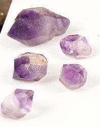 09-00439 Amethyst Herkimer Shape Jewelry Quality