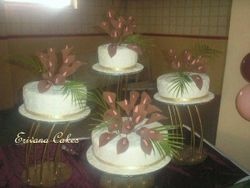 Brown and Ivory Wedding Cake 4 (W035)