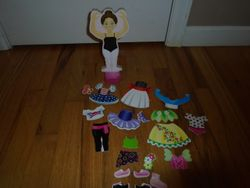Melissa & Doug Deluxe Nina Ballerina Magnetic Dress-Up - $6